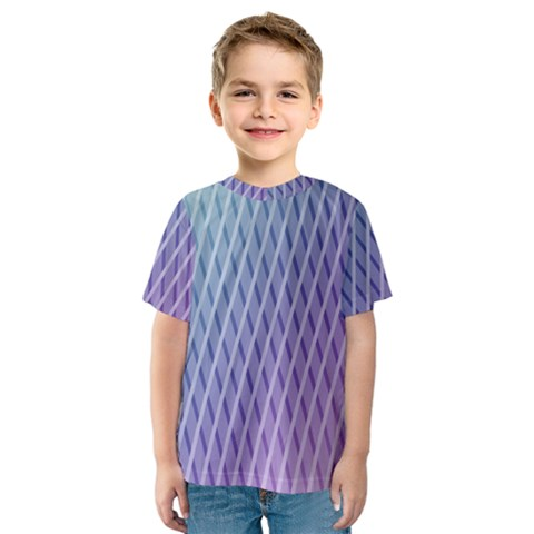 Abstract Lines Background Kids  Sport Mesh Tee by Simbadda