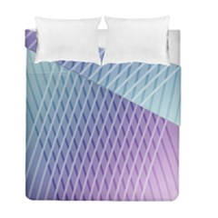 Abstract Lines Background Duvet Cover Double Side (full/ Double Size) by Simbadda