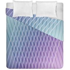 Abstract Lines Background Duvet Cover Double Side (california King Size) by Simbadda