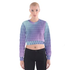 Abstract Lines Background Women s Cropped Sweatshirt