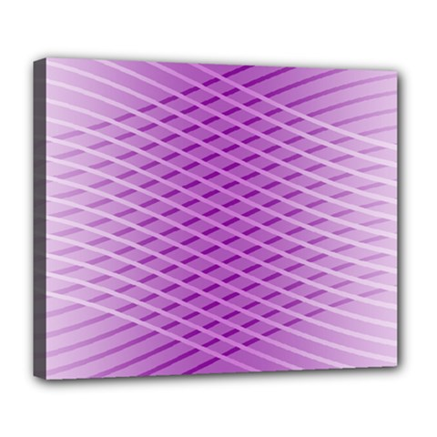 Abstract Lines Background Pattern Deluxe Canvas 24  X 20   by Simbadda