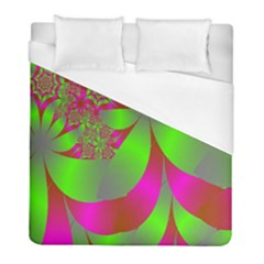 Green And Pink Fractal Duvet Cover (full/ Double Size) by Simbadda
