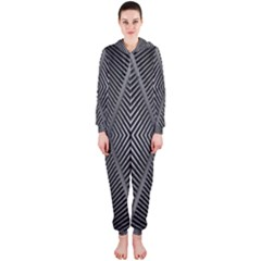 Abstract Of Shutter Lines Hooded Jumpsuit (ladies)