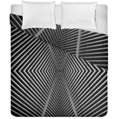 Abstract Of Shutter Lines Duvet Cover Double Side (california King Size) by Simbadda