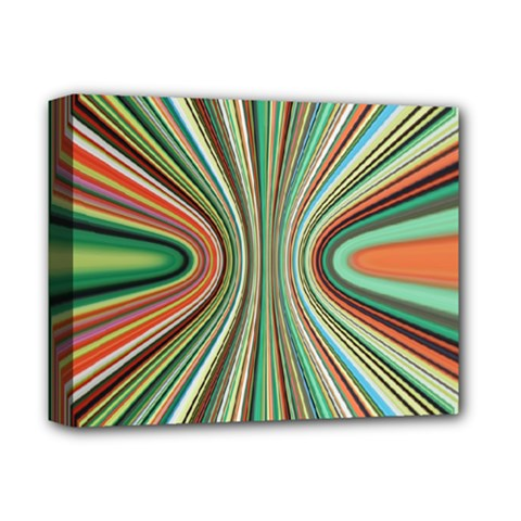 Colorful Spheric Background Deluxe Canvas 14  X 11  by Simbadda