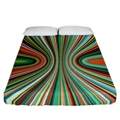 Colorful Spheric Background Fitted Sheet (california King Size) by Simbadda