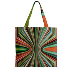Colorful Spheric Background Zipper Grocery Tote Bag by Simbadda