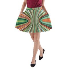 Colorful Spheric Background A Line Pocket Skirt by Simbadda