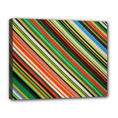 Colorful Stripe Background Canvas 14  X 11  by Simbadda