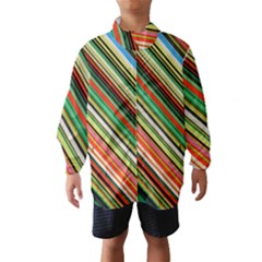 Colorful Stripe Background Wind Breaker (kids) by Simbadda