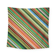 Colorful Stripe Background Square Tapestry (small) by Simbadda