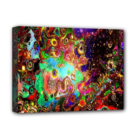 Alien World Digital Computer Graphic Deluxe Canvas 16  X 12   by Simbadda