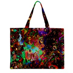 Alien World Digital Computer Graphic Zipper Mini Tote Bag by Simbadda