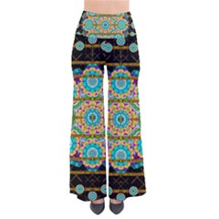 Gold Silver And Bloom Mandala Pants by pepitasart