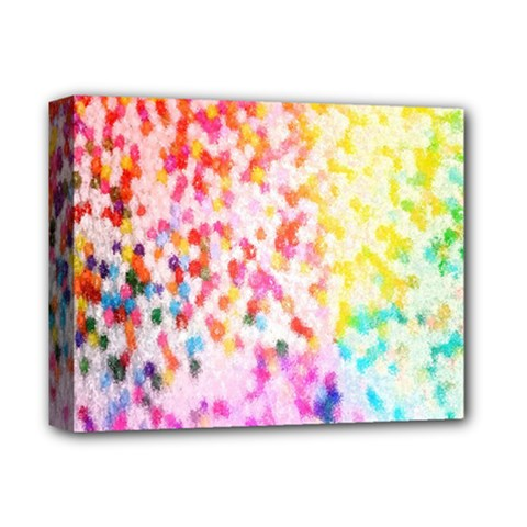 Colorful Colors Digital Pattern Deluxe Canvas 14  X 11  by Simbadda