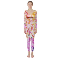 Colorful Colors Digital Pattern Long Sleeve Catsuit by Simbadda