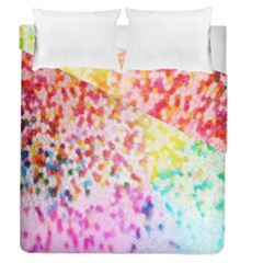 Colorful Colors Digital Pattern Duvet Cover Double Side (queen Size) by Simbadda