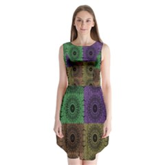 Creative Digital Pattern Computer Graphic Sleeveless Chiffon Dress   by Simbadda