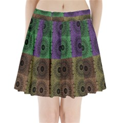 Creative Digital Pattern Computer Graphic Pleated Mini Skirt by Simbadda