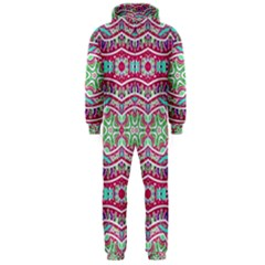 Colorful Seamless Background With Floral Elements Hooded Jumpsuit (men)