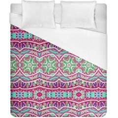 Colorful Seamless Background With Floral Elements Duvet Cover (california King Size) by Simbadda