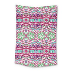 Colorful Seamless Background With Floral Elements Small Tapestry by Simbadda