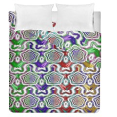 Digital Patterned Ornament Computer Graphic Duvet Cover Double Side (queen Size)