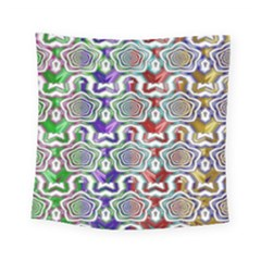 Digital Patterned Ornament Computer Graphic Square Tapestry (small) by Simbadda