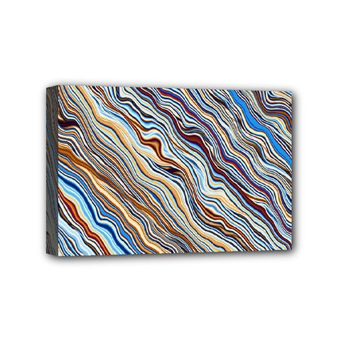 Fractal Waves Background Wallpaper Pattern Mini Canvas 6  X 4  by Simbadda