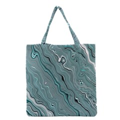 Fractal Waves Background Wallpaper Grocery Tote Bag by Simbadda