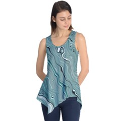 Fractal Waves Background Wallpaper Sleeveless Tunic
