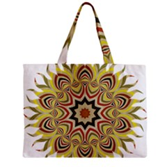 Abstract Geometric Seamless Ol Ckaleidoscope Pattern Zipper Mini Tote Bag by Simbadda