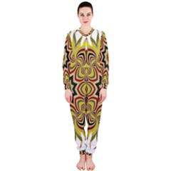 Abstract Geometric Seamless Ol Ckaleidoscope Pattern Onepiece Jumpsuit (ladies)