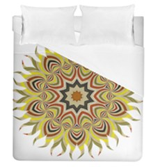 Abstract Geometric Seamless Ol Ckaleidoscope Pattern Duvet Cover (queen Size) by Simbadda