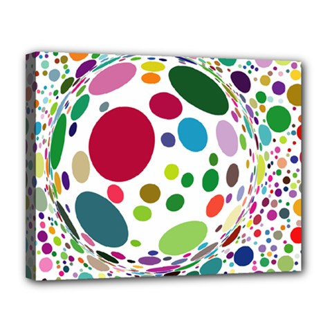 Color Ball Canvas 14  X 11  by Mariart