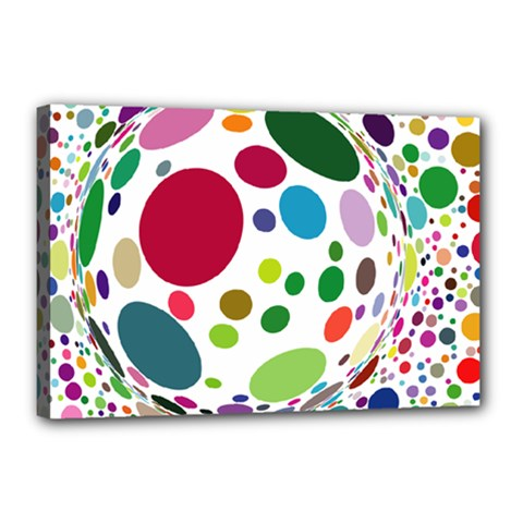 Color Ball Canvas 18  X 12  by Mariart