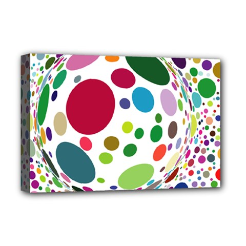 Color Ball Deluxe Canvas 18  x 12