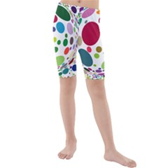 Color Ball Kids  Mid Length Swim Shorts