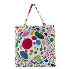 Color Ball Grocery Tote Bag