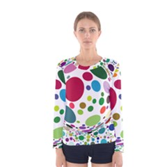 Color Ball Women s Long Sleeve Tee by Mariart