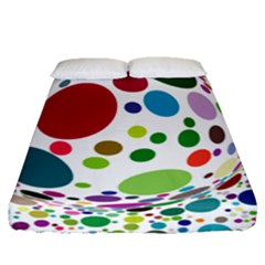 Color Ball Fitted Sheet (queen Size) by Mariart