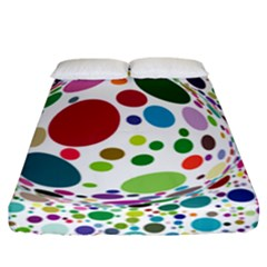 Color Ball Fitted Sheet (California King Size)