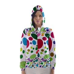Color Ball Hooded Wind Breaker (women) by Mariart