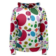 Color Ball Women s Pullover Hoodie