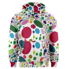 Color Ball Men s Zipper Hoodie