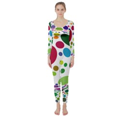 Color Ball Long Sleeve Catsuit