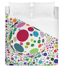 Color Ball Duvet Cover (queen Size) by Mariart