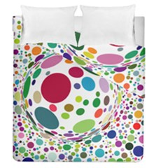 Color Ball Duvet Cover Double Side (Queen Size)