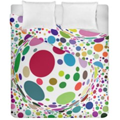 Color Ball Duvet Cover Double Side (California King Size)
