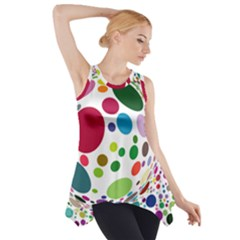 Color Ball Side Drop Tank Tunic